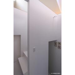 建築/住まい/建築デザイン/注文住宅/シンプル住宅 階段も美しく  OUCHI-12(1枚目)