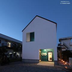 建築/住まい/建築デザイン/注文住宅/シンプル住宅 父島アクアさん 夜景