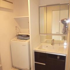 洗面/ランドリー/マンション/リノベーション 洗面とランドリーを快適な空間にリノベーシ…