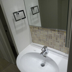 洗面所/マンション/リノベーション リノベで使いやすい洗面になりました