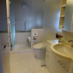 バリアフリー/リノベーション/トイレ/バス/洗面/マンション/... リノベーションでホテルライクなバスルーム…
