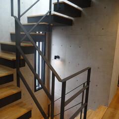戸建て/階段 螺旋階段にしてみました