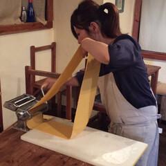 パスタ/自家製/自家製パスタ/イタリアン 自家製パスタを作ってるとこ。