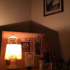 照明器具/シェードランプ 母から譲り受けたシェードランプは、今でも…