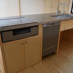 キッチン/オリジナルキッチン/木製キッチン/住まい/建築/建築デザイン 木製オリジナルキッチンをローコストで作る…(1枚目)