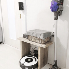 DIY/インテリア/家具/住まい/リフォーム/掃除/... いつでもすぐ掃除できるように、 ダイソン…