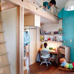 建築/住まい/インテリア/子供室/ロフト/ロフト付き子供室/... 「子供のいる暮らし~上野毛の住まい」/木…