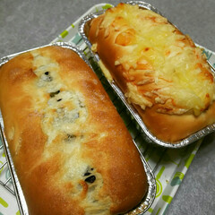 幸せな香り/てごねパン/フード/グルメ チーズパン&レーズンシュガーバターパン …