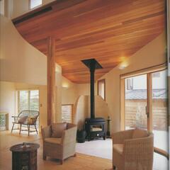 湘南スタイル/米杉/レッドシダー/注文住宅/無垢材/鎌倉/... 暖炉のあるお家