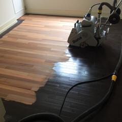 フローリング/研磨/剥離/張り替え/九州/福岡/... 塗りつぶしの床も、 表面を薄く研磨するこ…