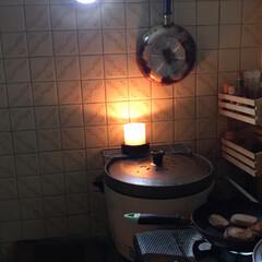 停電中/朝食作り/不便です~/身をもって体験中 おはようございます  昨夜お風呂入ってい…(1枚目)