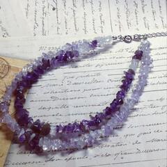 present/birthday/アンクレット/紫水晶/パワーストーン/ファッション/... ママ友のbirthdayプレゼント🎁  …