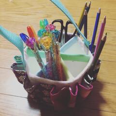 ペン立て/ハンドメイド/己書 たくさん入るペン立てを!コレを作って欲し…