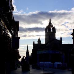街並/雲/空/スコットランド/おでかけ/世界遺産/... ロイヤルマイルはエディンバラ、オールドタ…