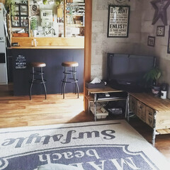 カラーボックス/キッチンカウンター/DIY/塩ビパイプ/テレビ台/賃貸/... カラーボックスでキッチンカウンターと賃貸…
