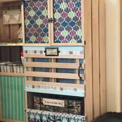 すのこ/DIY/雑貨/100均/セリア/ダイソー/... わんこ用の洋服収納棚を作りました。 本体…(1枚目)
