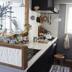 ナチュラルインテリア/シンプルインテリア/北欧インテリア/キッチン収納/台所/キッチン 色々と手を加えているキッチン。