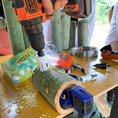 DIY/ブラックアンドデッカー/ブラデカ/D.I.Yの森づくり/ベンチ作り/竹/...