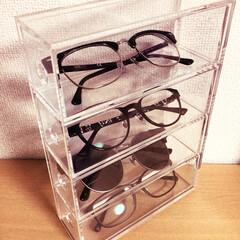 眼鏡/収納 ケースは無印で買ったものです、眼鏡入れに…