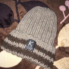 クリスマスプレゼント/彼氏へ/プレゼント/編み物/毛糸/ニット帽/... クリスマスに彼氏に上げたニット帽です。セ…