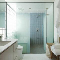 トイレのインテリア/建築家/ホテルライク/パウダールーム <HIROO FLAT>ホテルライクな洗…