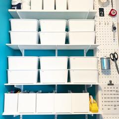 収納ケース/スキット/カインズ/DIY/雑貨/100均/... ダイソーの可動棚にホームセンターでサイズ…