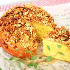 スキレット/カボチャパン/ナッツ カボチャのナッツパン♪