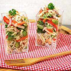 切干大根/ベーコン/サラダ/デリサラダ/ご馳走サラダ 切干大根のカップサラダです♪