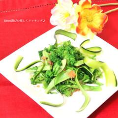 ブロッコリー/サラダ/和え物/梅干し/梅/おかか ブロッコリーと梅のサラダです♪