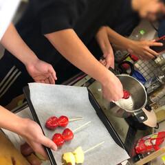 男子/スイーツ/ひな祭り/ダイソー/100均/キッチン/... 男3人フルーツ飴作り 食材準備して、飴を…
