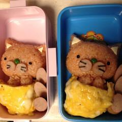 おべんとう ダブルきよらの猫ちゃんお弁当♬