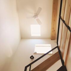 MEN's natural*/造作家具フルオーダーの家/新築一戸建て/吹き抜け 吹き抜けのリビング階段♪ この下からの眺…