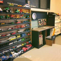 CAR PARKING/Plastu Desk/おもちゃ収納/MEN's natural*/DIY/収納/... 息子の為のDIY沢山♪ どれも気に入って…