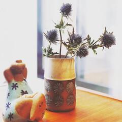 北欧ビンテージ/北欧家具/北欧雑貨/北欧/花のある暮らし/リサラーソン/... リサラーソン エマ アンティークの花瓶と…
