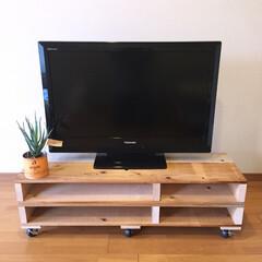 木製パレット/DIY/TVボード/ハンドメイド201606 一人暮らし用にテレビボードを作りました。