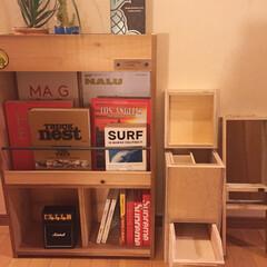 handmaid/DIY/ハンドメイド201606/bookbox 娘の一人暮らし新居のブックシェルフとミニ…