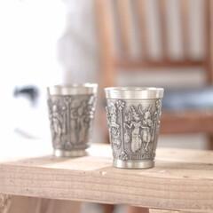 骨董市/グラス/ビアタン/タンブラー 民族チックなタンブラー♪骨董市で見つけて…