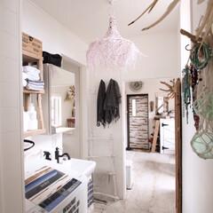 リゾートインテリア/サニタリー/廊下/洗濯機 夏は毎日がいい天気、毎日のようにお洗濯し…
