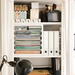 収納棚/収納/整理整頓/整理/夏の大掃除/雑貨/... 全面整理した、仕事の道具やら材料、資材な…