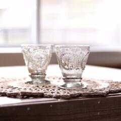 ガラスグラス/シルバー/グラス インテリアショップ、OKで見つけたグラス…