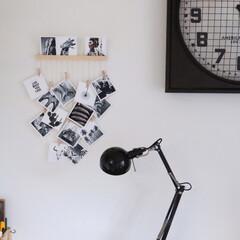 海外風インテリア/真四角プリント/写真/インテリア/雑貨/ダイソー 好きな写真を真四角にカットして、吊るして…