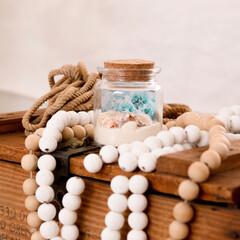海の砂/貝殻/ガラスボトル/ガラス瓶/タイムカプセル 夏の思い出に、瓶の中に思い出を詰め込んで…