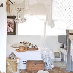 木漏れ日/ホワイトインテリア/ボヘミアン/寝室 リビングのソファーからの寝室の眺め♬ こ…