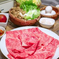 肉/すき焼き/おうちごはん 夏に大きな仕事が終わり、その御褒美になか…
