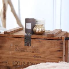 アロマキャンドル/キャンドル/ヴィンテージボックス/ヴィンテージ/アンティークボックス/アンティーク 骨董市でゲットした木箱はお気に入り中のお…