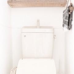 ホワイトインテリア/トイレインテリア/板壁 トイレ全体の写真♪ トイレの壁は白一色で…