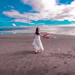 館山/海/夏の思い出/夏コーデ/ファッション 夏はやっぱり海♪よく行く館山の浜辺の1枚…