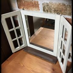 窓風/鏡/DIY/雑貨/インテリア/ハンドメイド 窓風ミラー 鏡を写真に撮るのは難しいです…