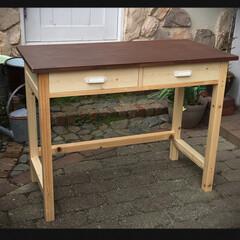 机/作業机/DIY/インテリア/家具/住まい/... 作業テーブル W90  H70  D45…