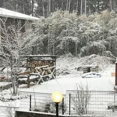 冬インテリア/建築 本日も雪景色。 自分ちではないのですが近…
